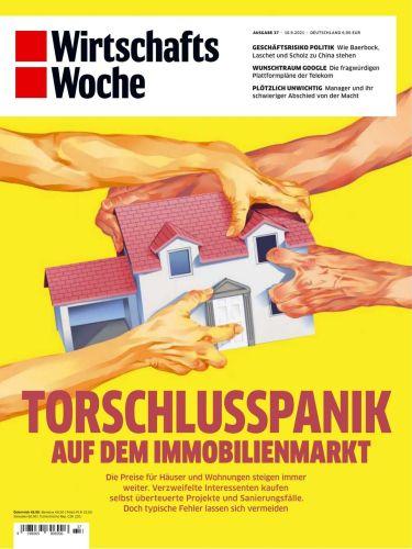 Cover: Wirtschaftswoche Magazin No 37 vom 10  September 2021