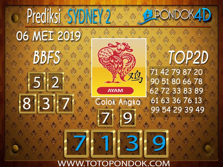Prediksi Togel SYDNEY 2 PONDOK4D 06 MEI 2019