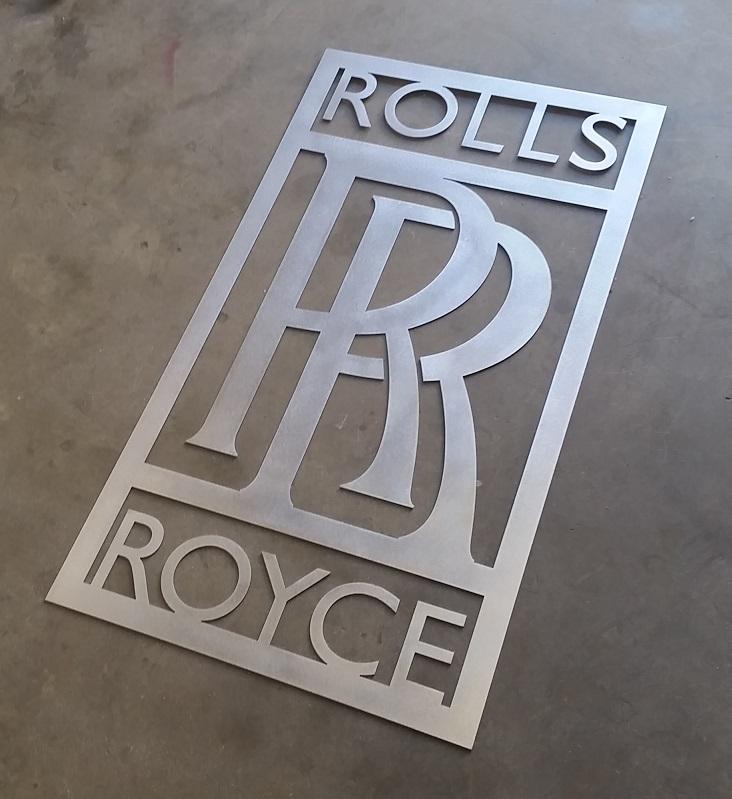 Rolls Royce mancave plasma laser cut logo emblem