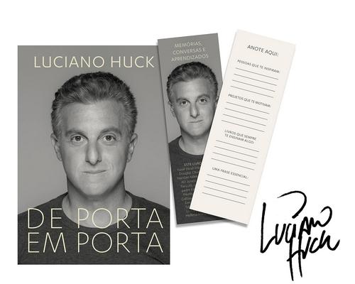 """Editora Objetiva lança em agosto o livro """"De Porta em Porta"""" do apresentador de TV Luciano Huck"""
