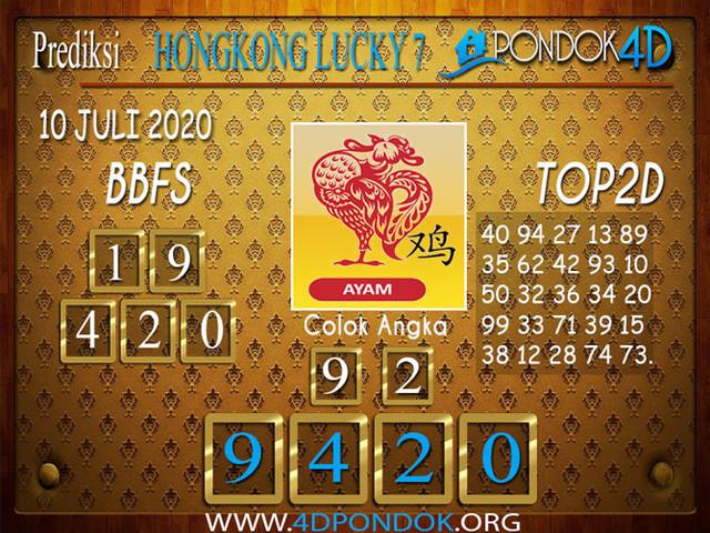 Prediksi Togel HONGKONG LUCKY 7 PONDOK4D 10 JULI 2020