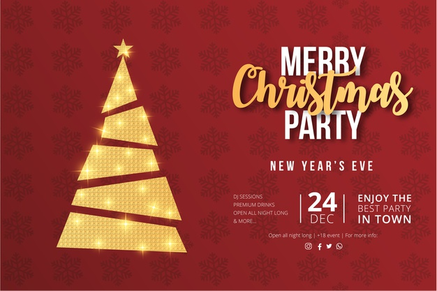 merry-christmas-party-flyer-design-with-golden-xmas-tree-1361-2801