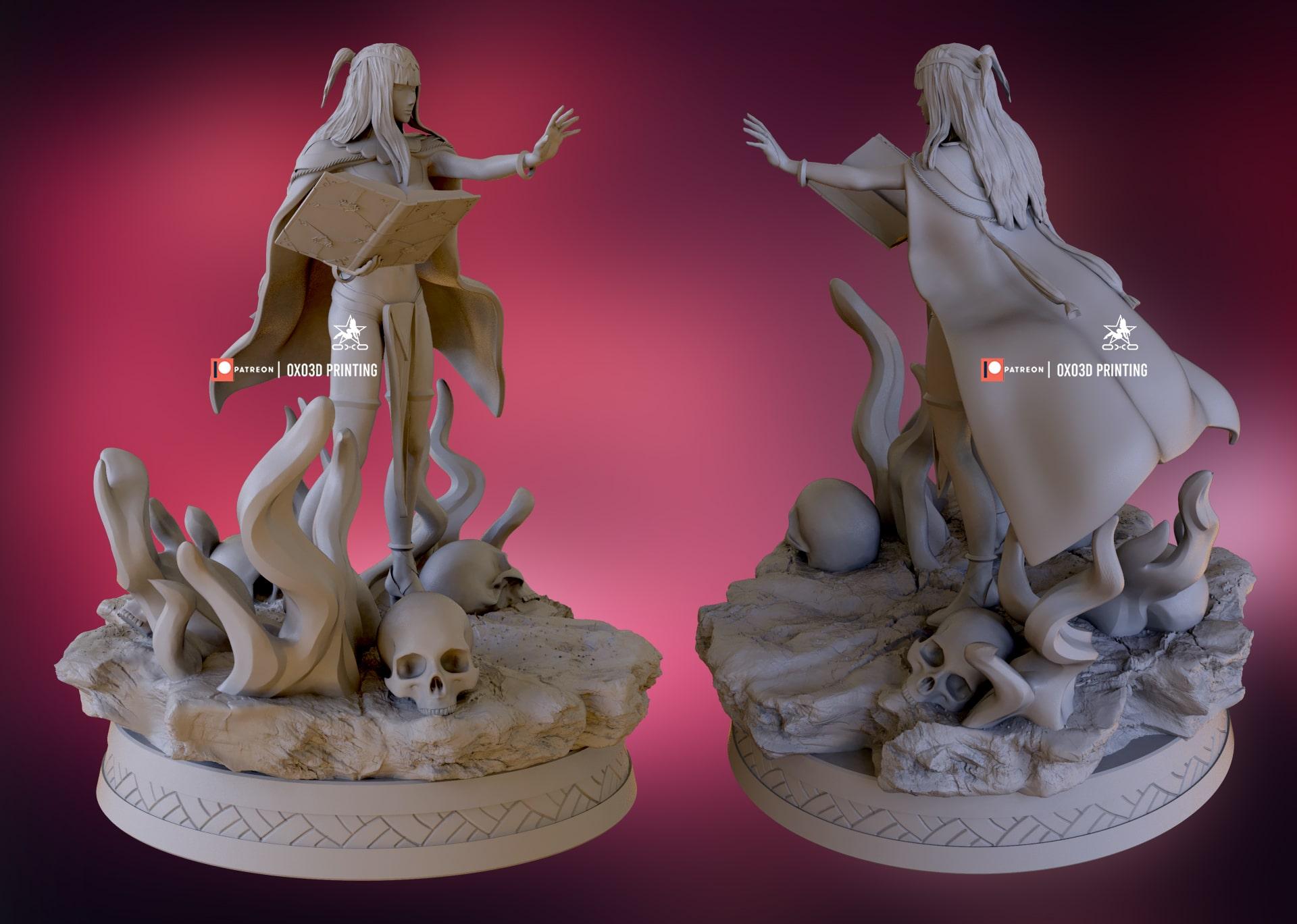 Camilla From Fire Emblem 3D Print STL File Backside