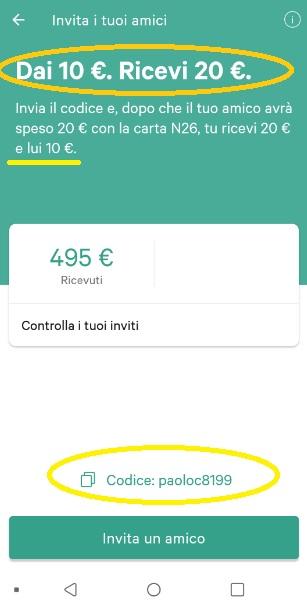 N26 10,00€ +20,00€ e addio spese su acquisti all'estero + Scegli tu il PIN Carta! Mastercard Gratis. N26-promo-2019-Dic02