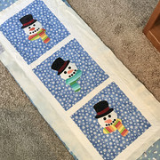 Snowmen, quilted for a friend