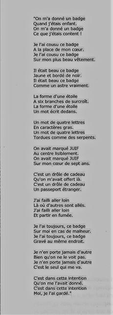 poeme le badge