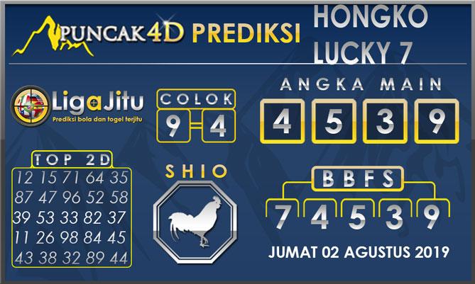 PREDIKSI TOGEL HONGKONG LUCKY7 PUNCAK4D 02 AGUSTUS 2019