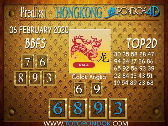 Prediksi Togel HONGKONG PONDOK4D 06 FEBRUARY 2020