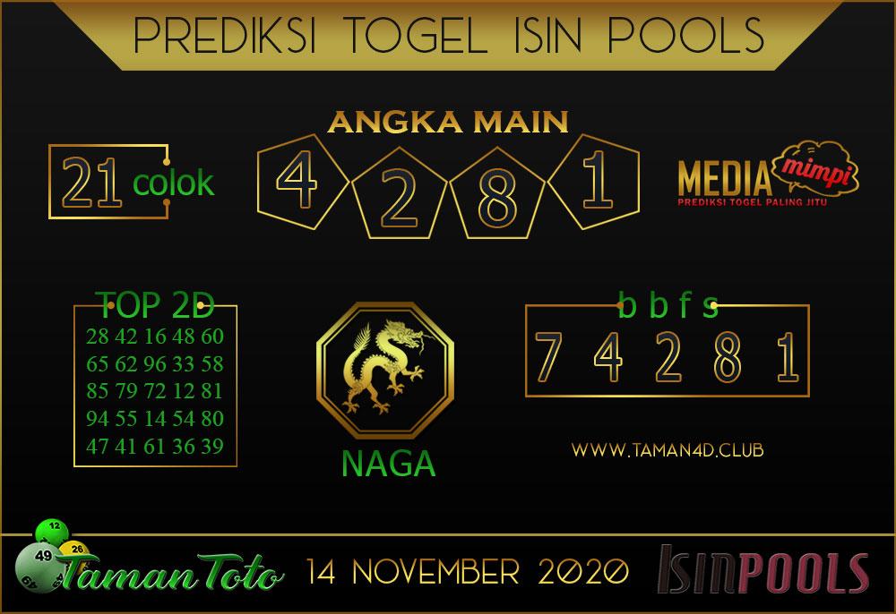 Prediksi Togel ISIN TAMAN TOTO 14 NOVEMBER 2020