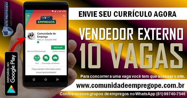VENDEDOR EXTERNO PAP, 10 VAGAS PARA EMPRESAS DE TELECOMUNICAÇÕES EM CARUARU