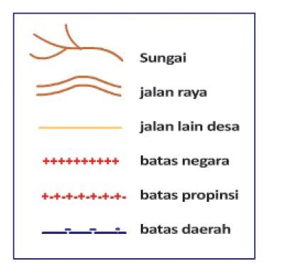 Simbol garis pada peta
