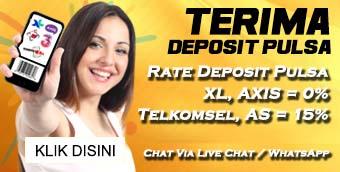 Menerima Deposit Via Pulsa XL, AXIS, TELKOMSEL dan Kartu AS