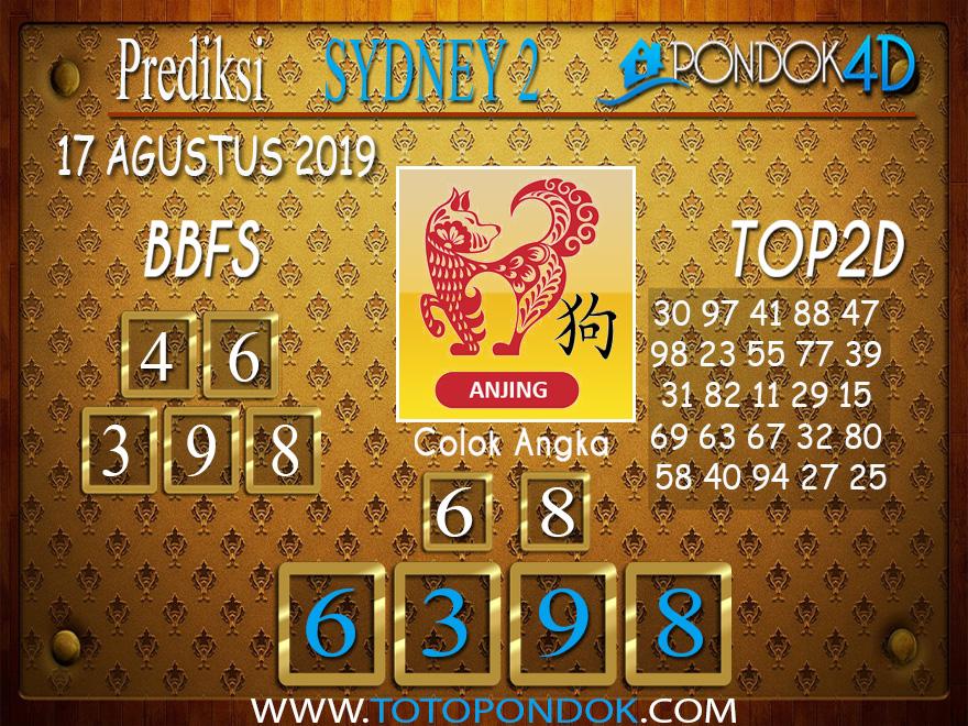 Prediksi Togel SYDNEY 2 PONDOK4D 17 AGUSTUS 2019