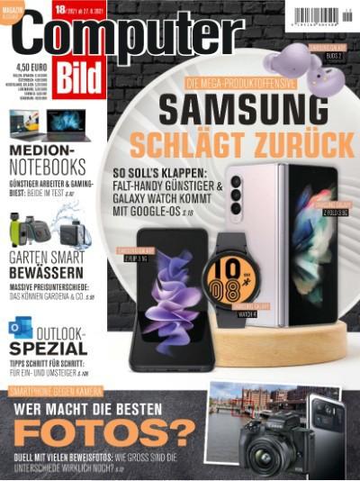 Cover: Computer Bild Magazin No 18 vom 27  August 2021