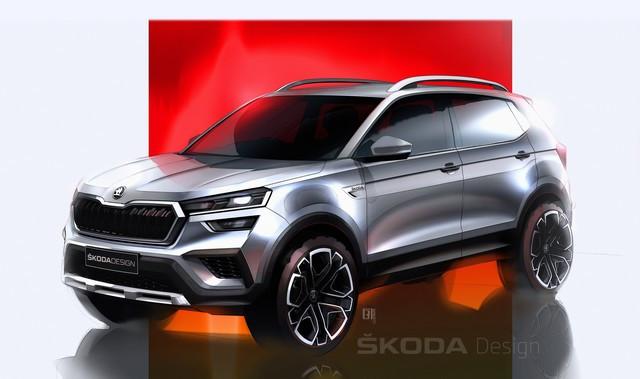 Nouvelle ŠKODA KUSHAQ : premiers dessins du SUV dédié au marché indien 210218skoda-kushaq-design-sketches-1