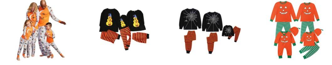 Ver colección de pijamas iguales para familia en Halloween
