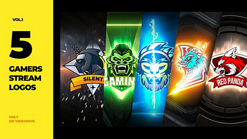 5 Gamers Stream Logos 27849621 - Project for After Effects (Videohive)
