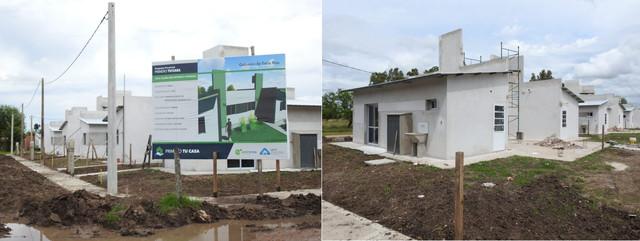 Locales: Avanza la construcción de 6 viviendas en  Aldea San Antonio