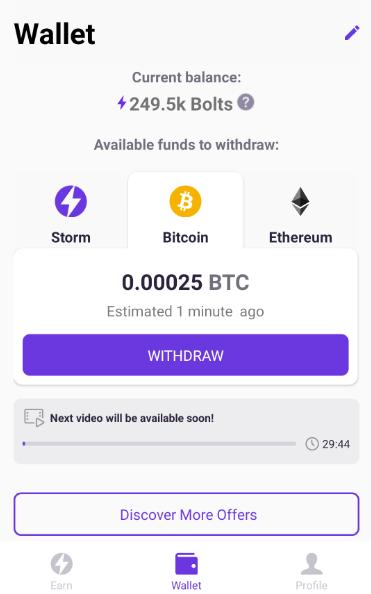 OPORTUNIDADE [Provado] Storm Play App - Criptomoedas Gratis - Android - Pagamento por Storm,Bitcoin,Ethereum (Actualizado em Abril de 2019) Bolt2coins