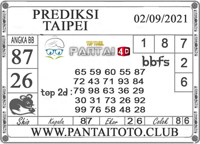 PREDIKSI TOGEL TAIPEI PANTAI4D 02 SEPTEMBER 2021