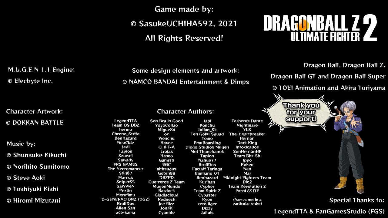 DRAGON BALL Z: ULTIMATE FIGHTER 2 Mugen0000