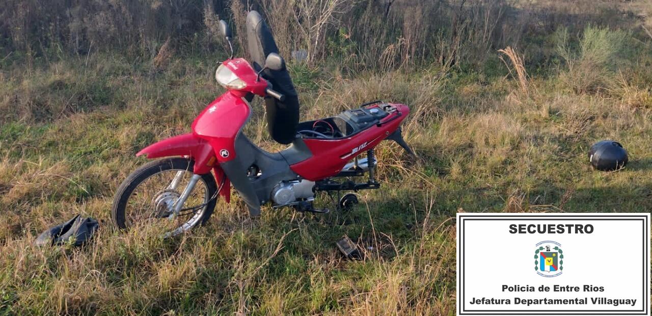 POLICÌA DE VILLAGUAY: Personal de Comisarìa Primera recuperò moto-vehìculo que habrìa sido secuestrado
