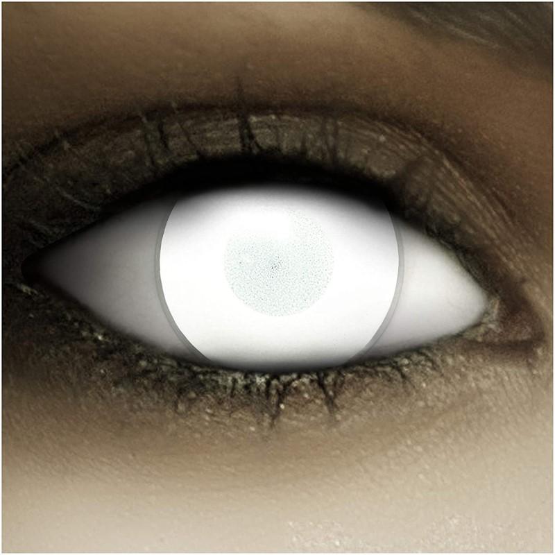 Weiße Zombie-Kontaktlinsen für Halloween