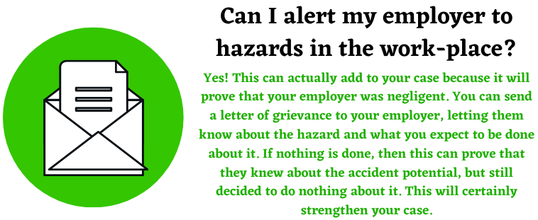 hazards in the work place to avoid work accidents