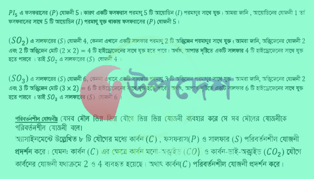 SSC 6th Week Chemistry Assignment 2021