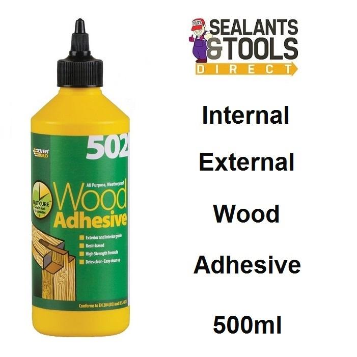 Everbuild 502 Wood Adhesive 500ml WOOD05