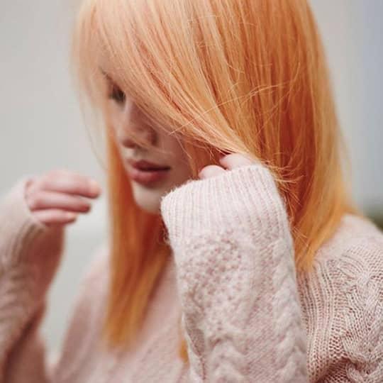 Orange-strawberry-styled-hair