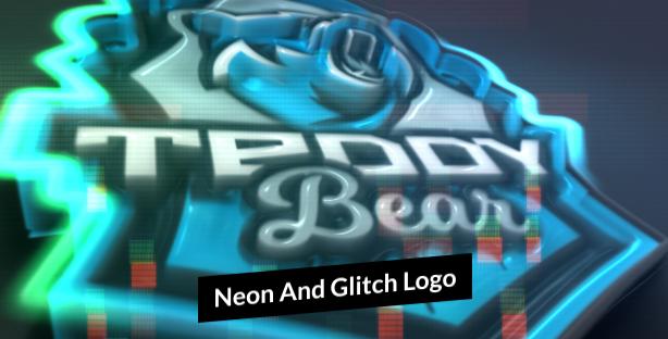 Neon-And-Glitch-Logo