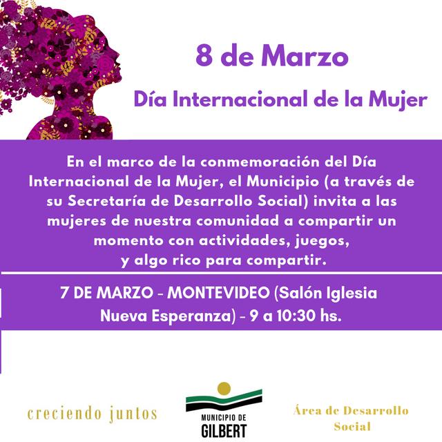 Gilbert: Actividades Día Internacional de la Mujer
