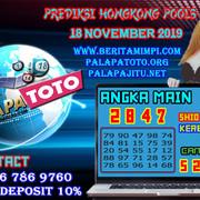 PREDIKSI TOGEL HONGKONG PALAPATOTO 18 NOVEMBER 2019