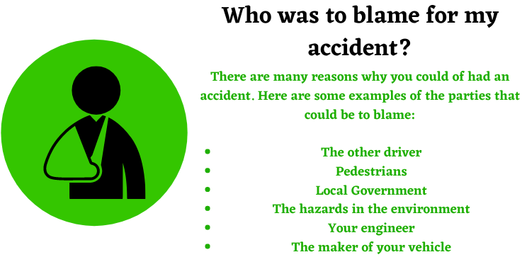 who was to blame for my traffic accident