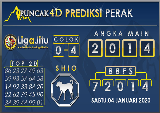 PREDIKSI TOGEL PERAK PUNCAK4D 04 JANUARI 2020
