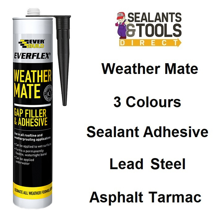 Everbuild Weather Mate Sealant Adhesive WeatherMate Black Clear White