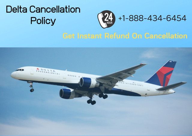 Delta Airlines is one of the busiest airlines in the world. It's because of the good service they provide to their passenger. If you planned for a trip anywhere with Delta Airlines and due to some reason your plan has canceled and now you want to cancel your airline ticket. So first of all, you have to read the Delta Cancellation policy & refund policies. Call +1-888-434-6454 for $0 Cancellation charge & Instant Cancellation. https://airlinescancellationpolicy.com/delta-airlines-flight-cancellation-policy