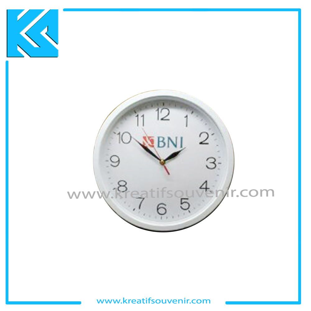 Jam List Putih - Custom Cheap