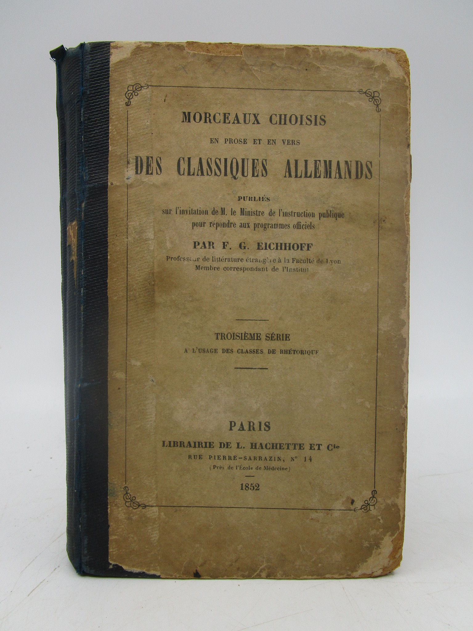 Image for Morceaux Choisis en prose et en vers Des Classiques Allemands