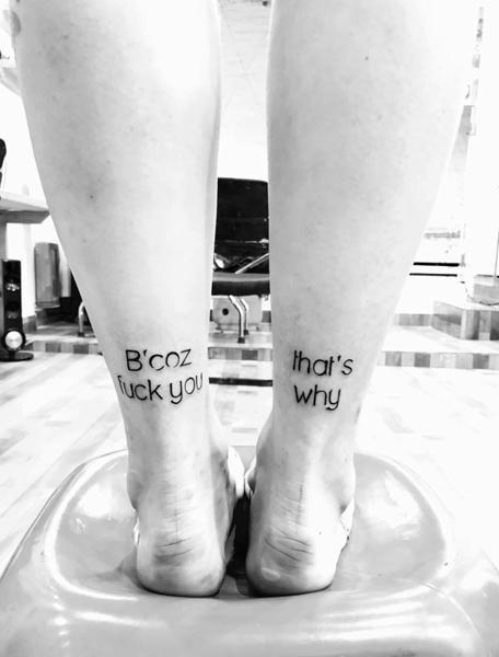 Black and Grey Tattoo