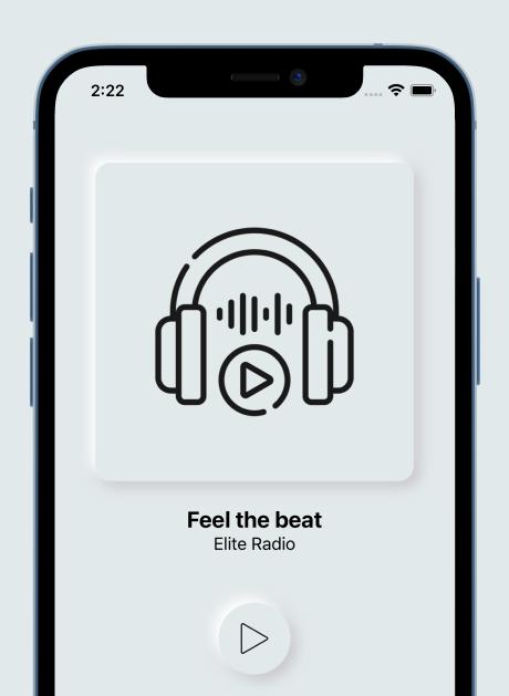 Elite Radio - Modern Neumorphism UI Radio App for iOS - 1