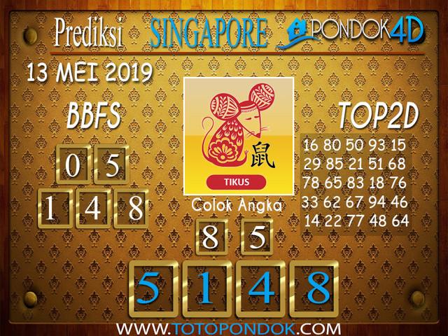 Prediksi Togel SINGAPORE PONDOK4D 13 MEI 2019