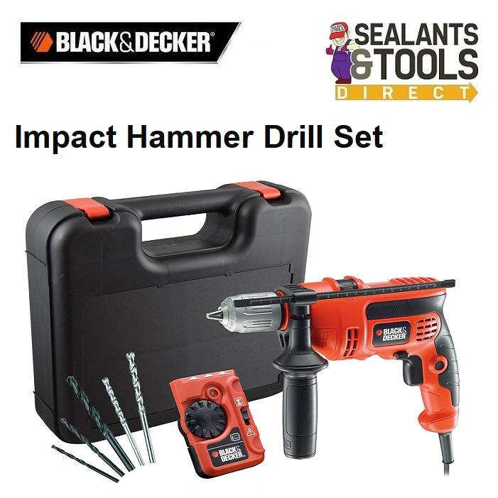 Black & Decker CD714CRESKD Impact Hammer Drill & Detector 710W 240V