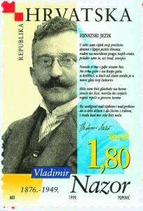 1999. year ZNAMENITI-HRVATI-VLADIMIR-NAZOR
