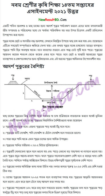 Class 9 Agriculture 14th Week Assignment Answer