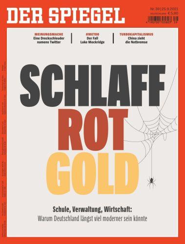 Cover: Der Spiegel Nachrichtenmagazin No 39 vom 25  September 2021