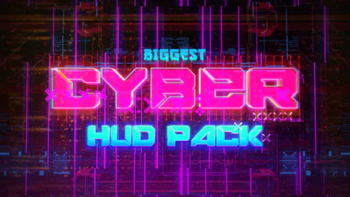 Biggest CYBER HUD Pack 30635723 - Project for After Effects (Videohive)