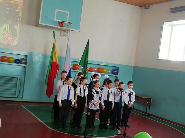 Празднование 23 февраля в Галкинской школе