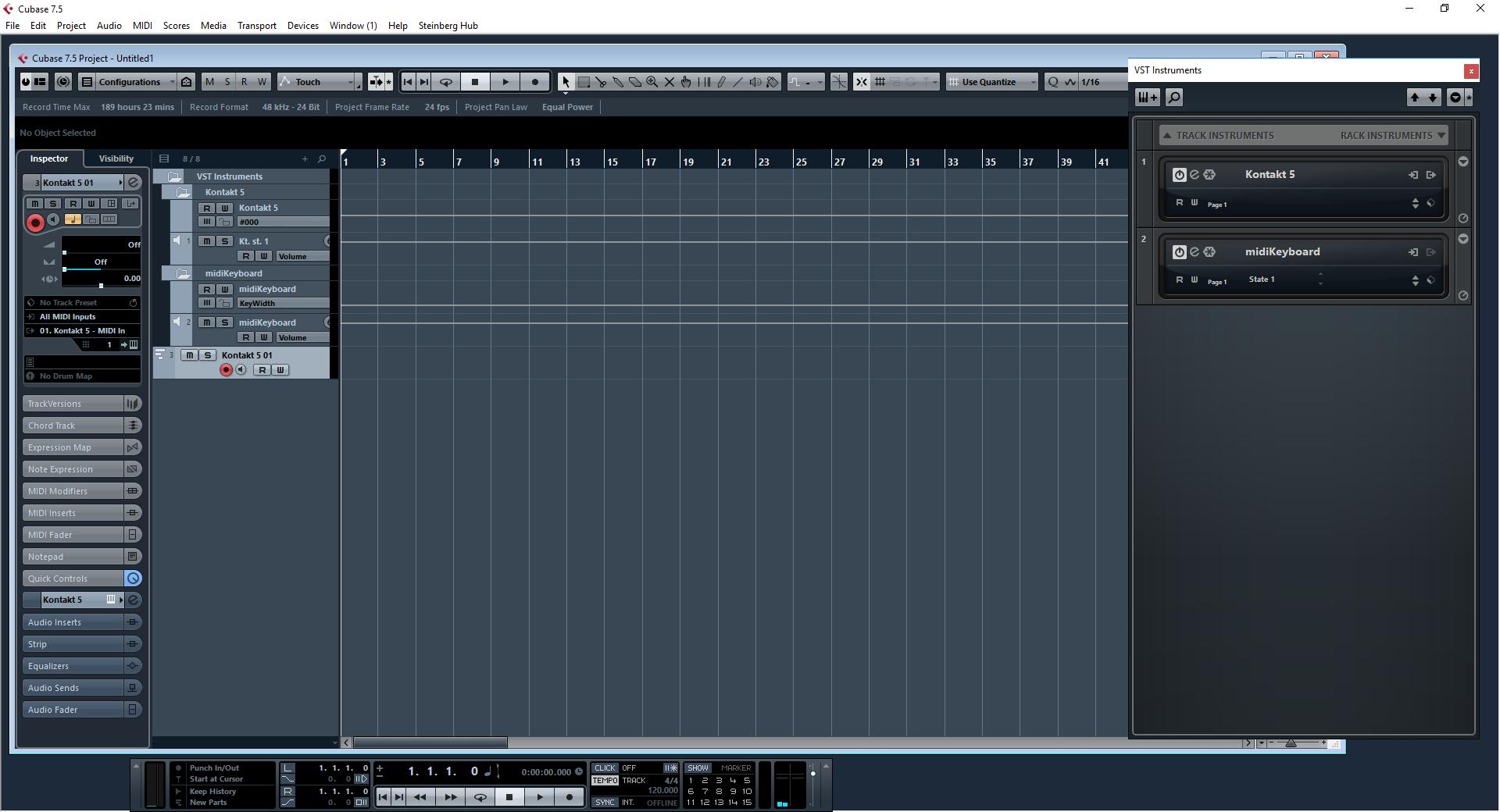 Cubase 7 5 - MIDI send invisible (problem) | VI-CONTROL